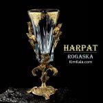 شیک ترین گلدان دکوری لوکس و طلا کاری شده هارپات